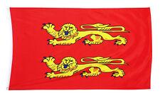 DRAPEAU NORMAND NORMANDIE MEDIEVAL CAEN FRANCE  90 CM PAR 60 FLAG