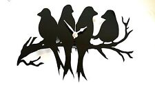 Bird Silhouette CLOCK WALL MOUNTED Amore Uccelli