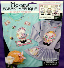 New Daisy Kingdom Hug Some Bunny No-Sew Fabric Applique Easter Eggs Butterfly