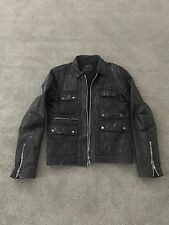 ALL SAINTS HABANERO Leather Jacket Size Medium.