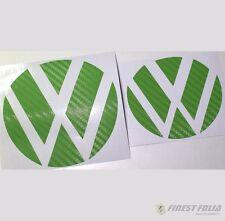 Emblem Ecken Carbon Grün vorne+hinten VW Golf 7 VII GTI GTD R Turbo Logo