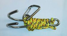 stainless steel dual reef drift hook with line & steel carabiner /Scuba diving
