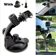 Go pro Car Suction Cup Adapter Window Glass Mount Holder Tripod for Gopro Hero4#