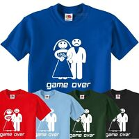Game Over Funny Wedding tshirt Party Stag Do mens T-Shirt