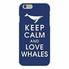 Keep Calm and Love Whales Humpback FITS iPhone 6+ Plastic Snap On Case Cover New