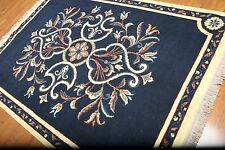 "5'6"" x 8'0"" AS IS HANDMADE 100% WOOL VERSACE LOOK RUG CARPET THIN PILE"