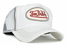 Authentic Brand New Von Dutch White Chris Cap Hat Red Signature