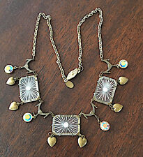 Art Deco Camphor Glass Necklace Signed Glass Works Studio Camphor Jewelry