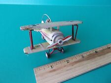 """VINTAGE TIN TOY ORNAMENT """"GERMEN BIPLANE"""" MADE IN GERMANY"""