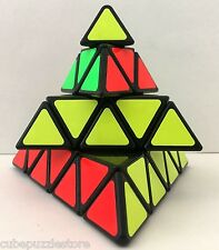 SS 4x4x4 Pyramid Magic Cube Pyraminx Twist Puzzle Intelligence Contest Toy Black