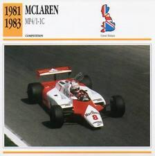 1981-1983 McLAREN MP4/1-1C Racing Classic Car Photo/Info Maxi Card