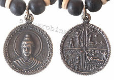 Buddha necklace pendant amulet scenes from the life of Buddha collier bouddha
