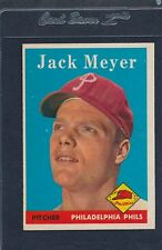 1958 Topps #186 Jack Meyer Phillies EX 58T186-82715-3
