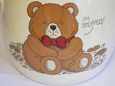 Vintage Treasure Craft Cookie Jar Teddy Bear I'm Stuffed