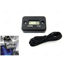 Waterproof Digital Tach Hour Meter Gauge LCD for 4 Stroke Gas Engine