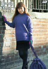 ~ Knitting Pattern For Child's Patterned Yoke Sweater ~