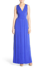 Felicity and Coco Jersey Strappy Back Maxi Dress Cobalt XS NWT $98