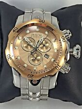 Men's Invicta 10797 Venom Reserve Stainless Rose Gold Chronograph Dial Watch