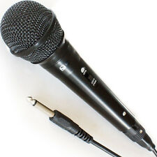 "HANDHELD DYNAMIC MICROPHONE - WIRED DJ/PA STAGE KARAOKE & 1/4"" CABLE"