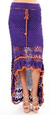 L BOHO Bohemian Mermaid Gypsy Hippie Lolita Tribal Crochet Belly Dancing Skirt