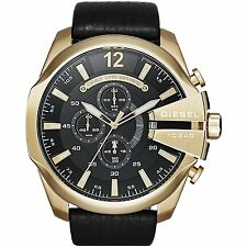 Diesel DZ4344 Herrenuhr Edelstahl Chronograph Armbanduhr Uhr Leder schwarz
