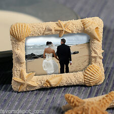 10 Beach Themed Photo Frame Wedding Favors Seashell Place card Holder