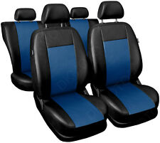 CAR SEAT COVERS full set fits Ford Mondeo Universal Leatherette Black/Blue