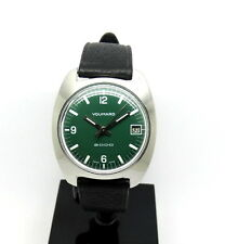 1960s Vintage VOUMARD 2000 GREEN DIAL Swiss Backwinder Watch Back Set Wind Crown