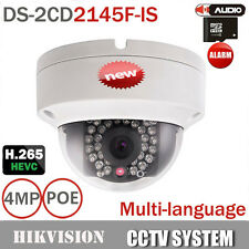 Hikvision 4MP IP Dome Camera DS-2CD2145F-IS 1080P POE CCTV Alarm I/O IR Cam 6mm