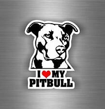 Sticker car moto biker bomb jdm decal bumper laptop i love my pitbull dog r1