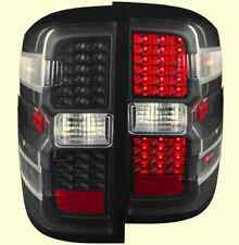 Anzo 311215 Black Tail Light Pair with Red LEDs for Silverado 1500/2500HD/3500HD
