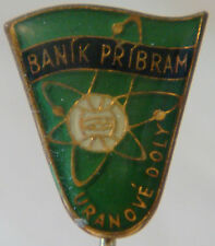 BANIK PRIBRAM now DUKLA PRAHA Vintage 1960s Club crest type badge Stick pin