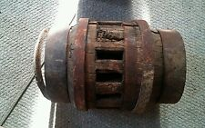 Antique Wagon Wheel Hub Heavy Wood an Iron 14 Spokes Vintage