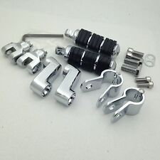 "Cr FootPegs 1.25"" Clamps For Honda GoldWing VT750 Shadow VT750C VT110 Steed 400"