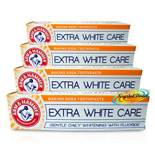 4x Arm & Hammer EXTRA WHITE CARE 125g Fluoride Cavity Protection