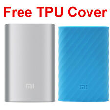 Original Xiaomi NEW 10000mAh Silver World Best Power Bank W/ free Mi TPU Cover