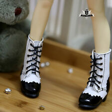 MSD Shoes 1/4 BJD Shoes Supper Dollfie White Boots Dollmore Luts DOD AOD MID EID