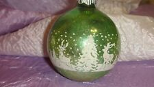 Vintage Christmas Shiny Brite Glass Tree Ornaments Stencil Scene DEER