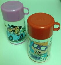 Aladdin Thermos Lot of 2 - Each 8 Ounce Capacity (Rug Rats & Minnie/Mickey Mouse