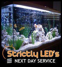 WHITE LED TUBE Bar Acquario Acquario illuminazione Striscia Luci RESISTENTE ALL' ACQUA 100 cm UK