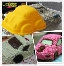 Cartoon 3D Car Silicone Fondant Cake Mold Baking Tools Rice modl Cake Decorating
