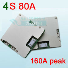 4S 12V LifePO4 Lithium Cell 80A Battery Protection BMS MOS Board with Balance
