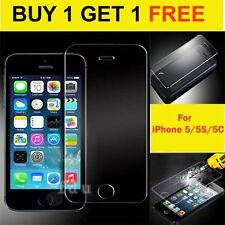 REAL TEMPERED GLASS FILM SCREEN PROTECTOR FOR APPLE IPHONE 5/5S/5C