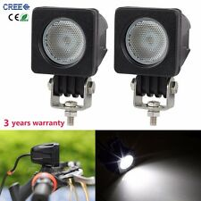 2X 10W Cree LED Work Light Bar Driving Offroad Truck Boat 4WD Flood Lamp Square