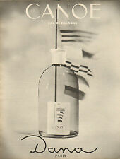 Publicité Advertising 1960 /// parfum CANOE  eau de cologne DANA