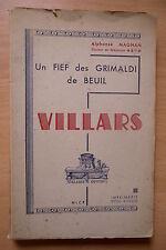 UN FIEF DES GRIMALDI DE BEUIL VILLARS SUR VAR  ALPHONSE MAGNAN HISTOIRE