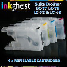 Refillable Cartridges compatible with Brother LC77 LC73 MFCJ6510 J6710 J6910