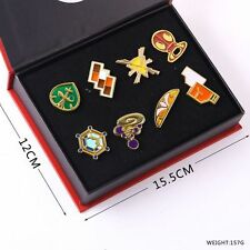 Pokemon Gym  League Kalos Metal Badge Pin Set of 8 New