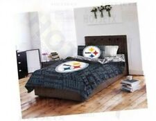 PITTSBURGH STEELERS BEDDING SET TWIN NFL FOOTBALL BED PILLOW SUPERBOWL HD TV