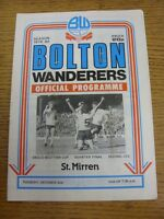 02/10/1979 Bolton Wanderers v St Mirren [Anglo-Scottish Cup] (Creased, Worn). Go